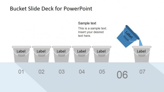 Bucketing Test Process Diagram for PowerPoint