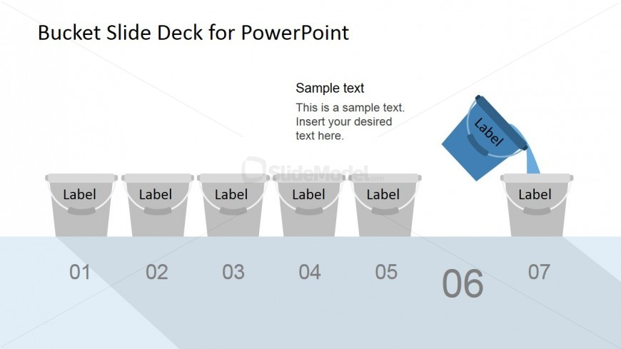 Buckets Clipart Diagram for PowerPoint