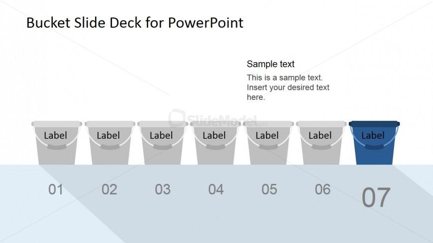 Flat Navy Blue Bucket A/B Test PowerPoint Model