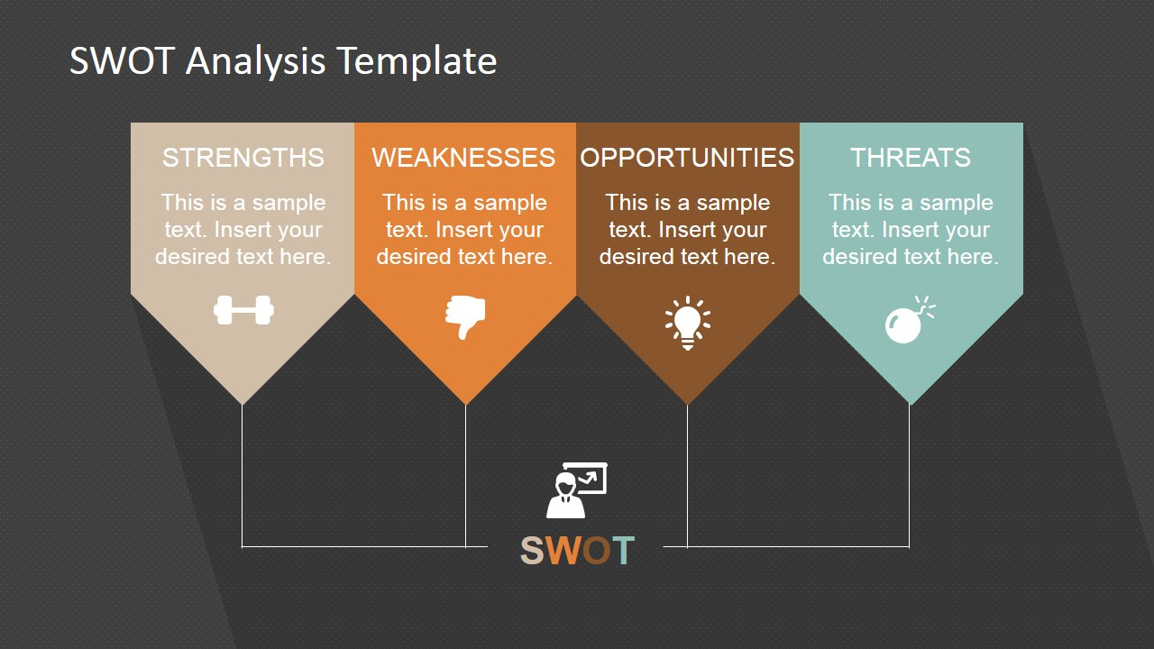 Minimalist SWOT Analysis Template for PowerPoint - SlideModel