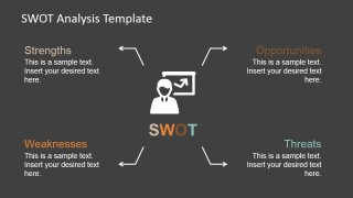 PowerPoint SWOT Analysis Quadrants Design