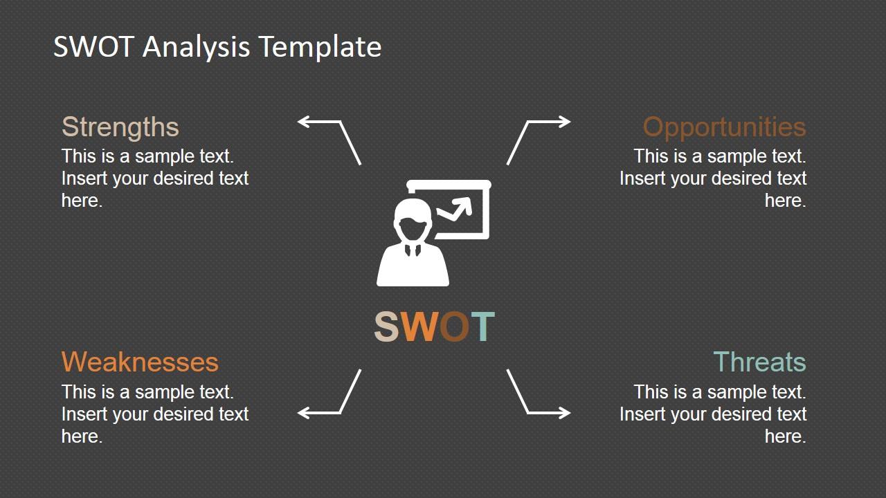 PowerPoint SWOT Analysis Quadrants Design