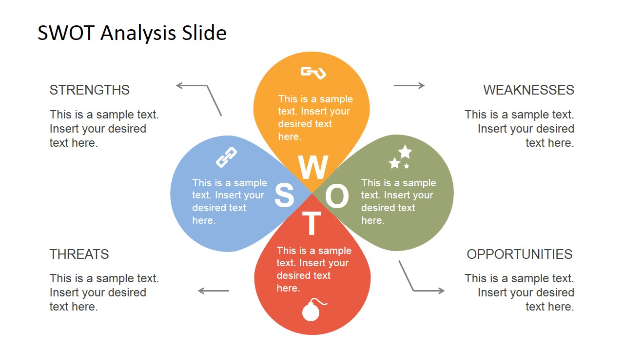 swott analysis template - petals swot analysis powerpoint template slidemodel