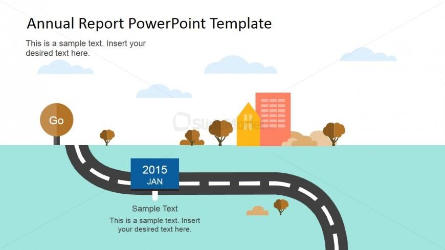 Annual Roadmap Slide Design for PowerPoint