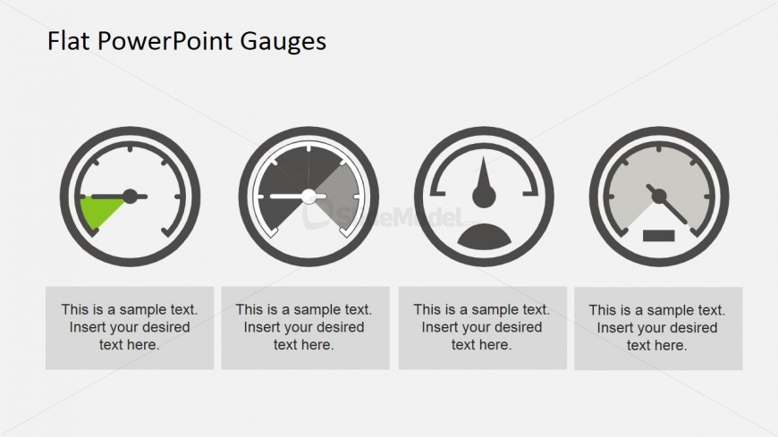 Flat Gauge Designs for PowerPoint