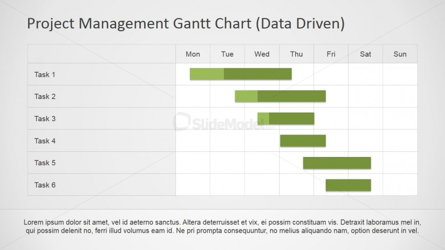Gantt Chart PowerPoint Design SlideModel - Unique gantt chart ppt template design