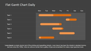 PowerPoint Gantt Chart with Daily Schedule
