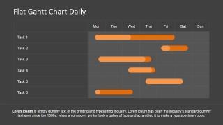 PowerPoint Gantt Chart with Daily Schedule