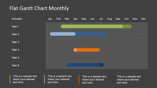 Gantt Chart Monthly Plan for PowerPoint
