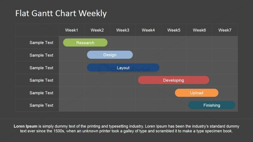 PowerPoint Gantt Chart with Weekly Schedule