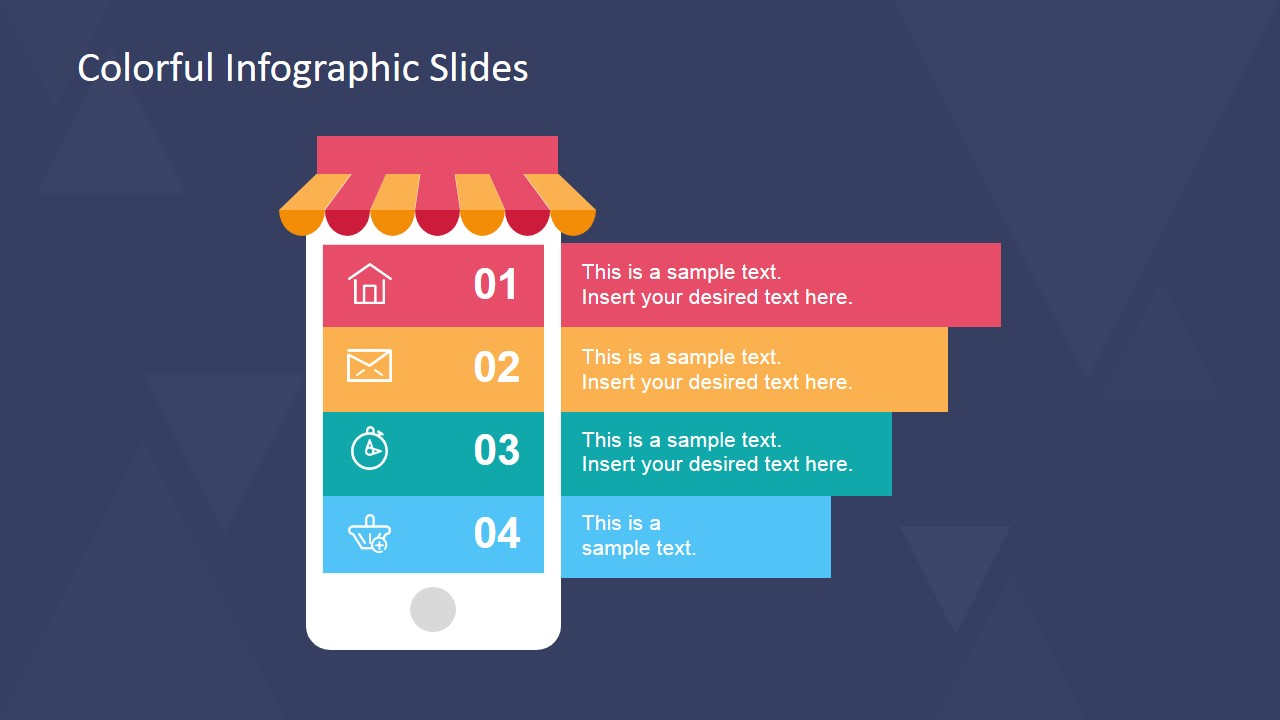 infographic template powerpoint free - colorful infographic slides for powerpoint slidemodel