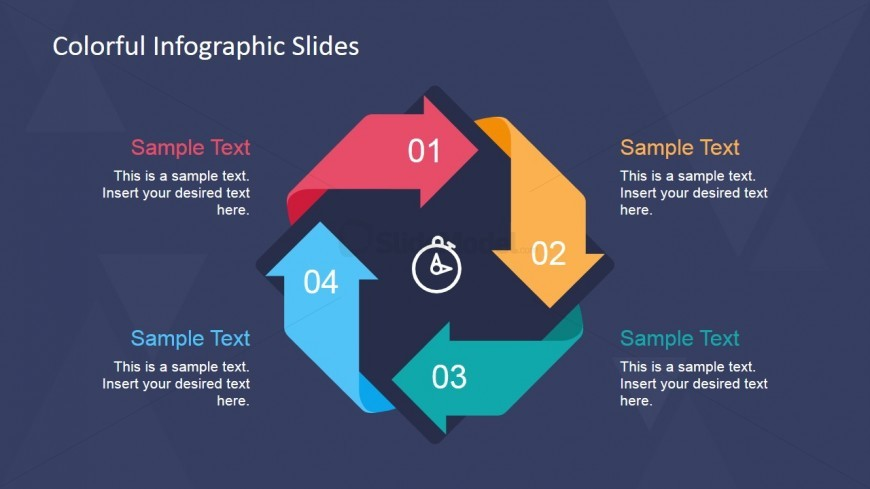 Creative Cycle 4 Steps Diagram Design