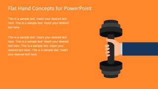 Flat Hand Lifting Weights Graphic