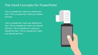 Flat Purchase Receipt in Smartphone