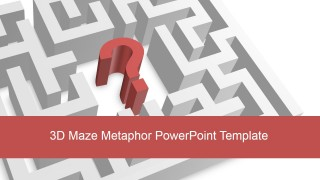 3D Maze PowerPoint Shape Background
