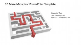 Successful 3D Maze Travel PowerPoint Shapes