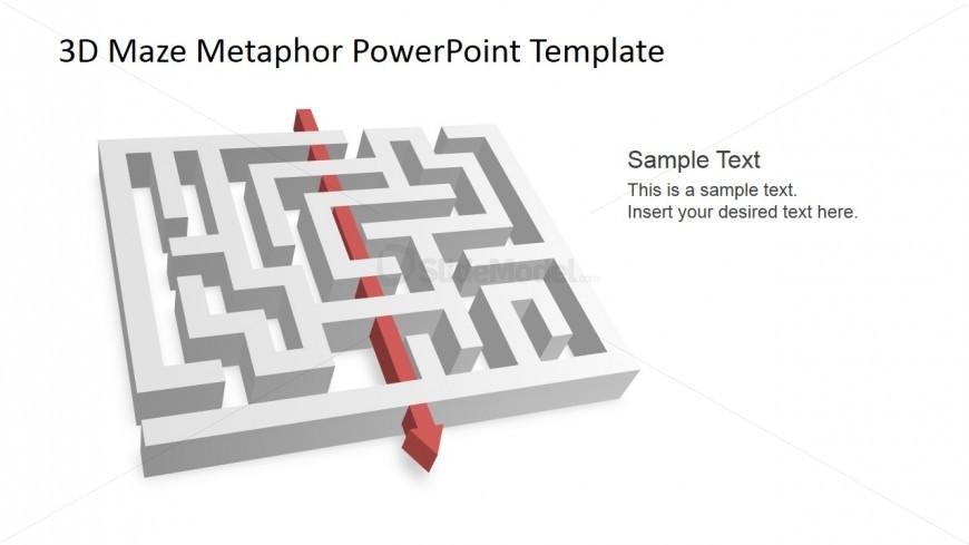 3D Maze PowerPoint Shapes