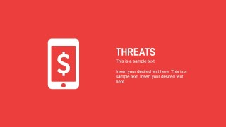 Flat Threats Slide for PowerPoint