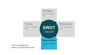Opportunities SWOT Component Flat Design