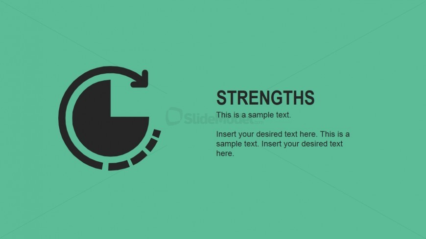Flat Strengths Slide for PowerPoint