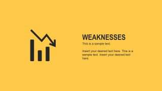 Flat Weaknesses Slide for PowerPoint