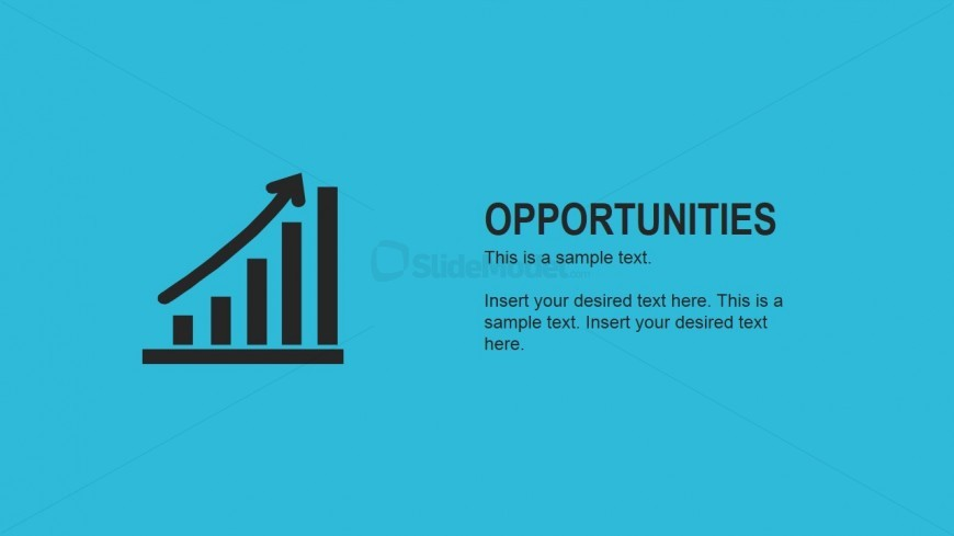 Flat Opportunities Slide for PowerPoint
