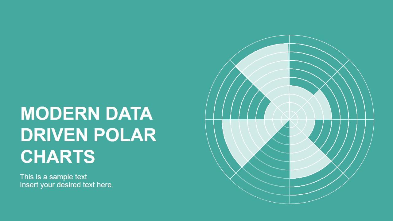 PowerPoint Radar Chart Flat Design