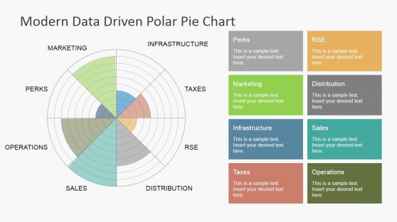 Data Driven Polar Charts For PowerPoint  Pie Chart Templates