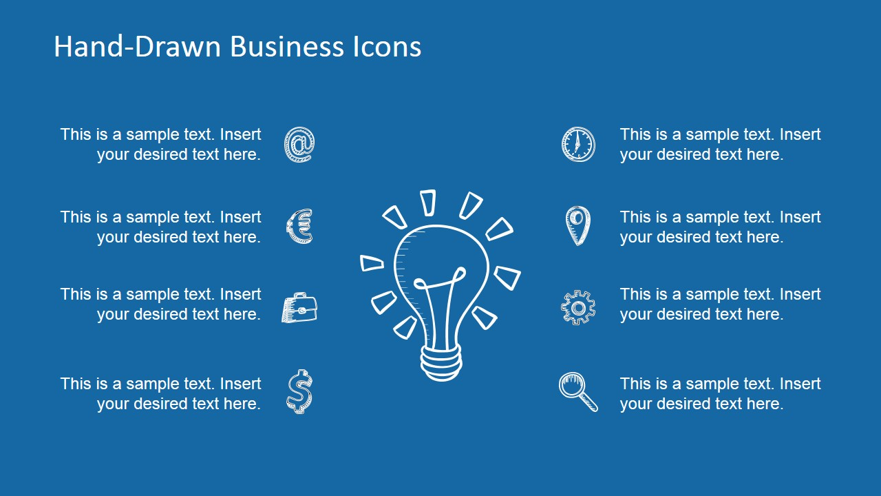 hand-drawn business icons powerpoint template