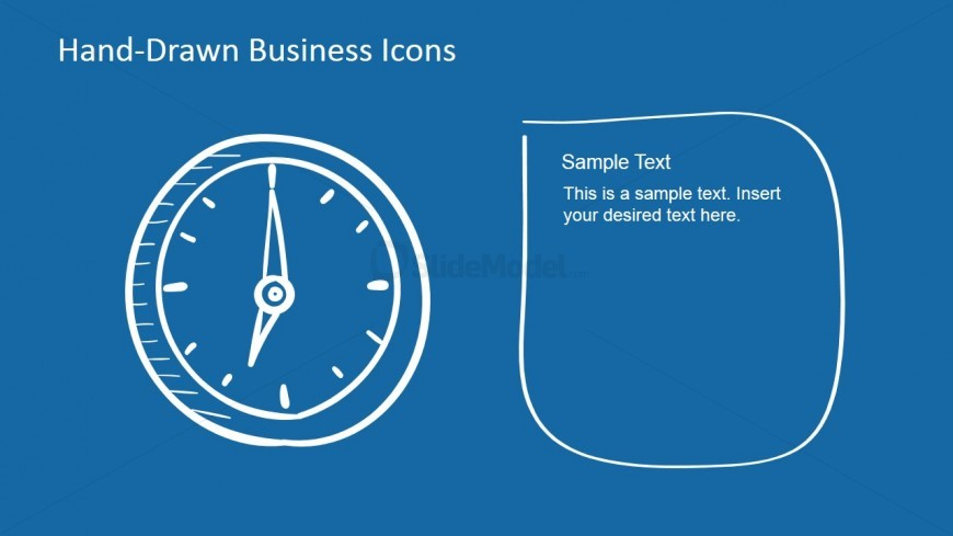 Hand-Drawn Analog Clock Shape for PowerPoint