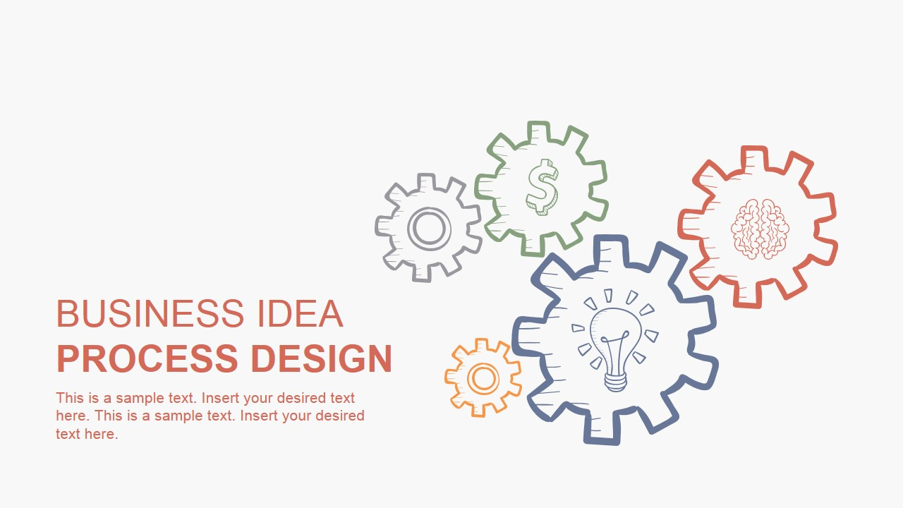 PowerPoint Design Hand Drawn Business Idea