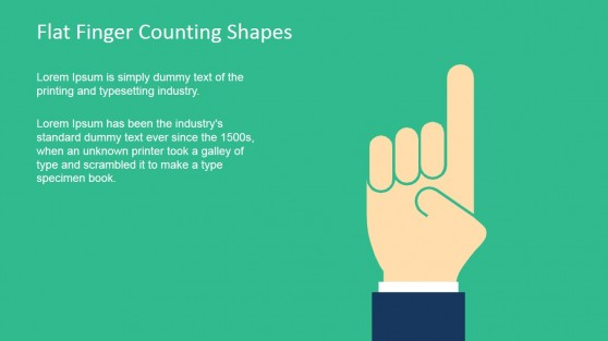 Finger Shape for PowerPoint Counting One