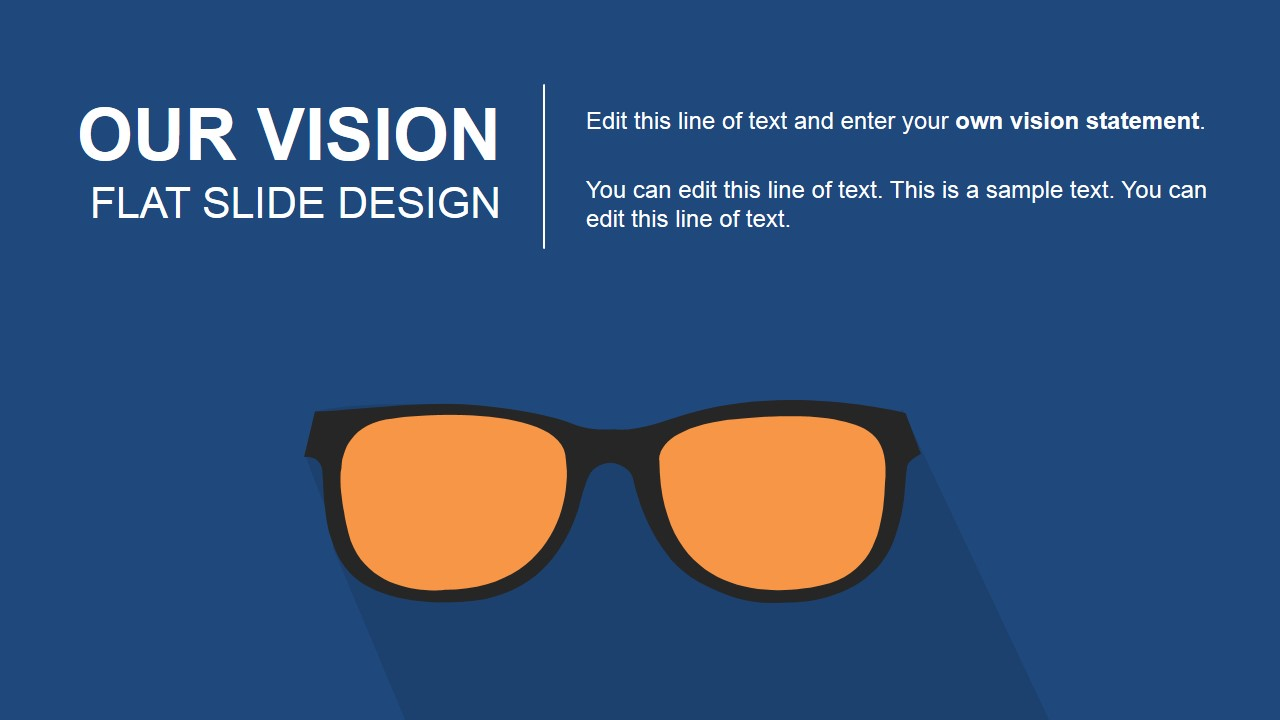 vision statement powerpoint templates our vision flat slide design for powerpoint