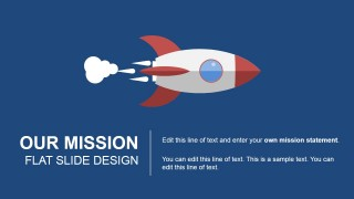 Our Mission Flat Spaceship Illustration