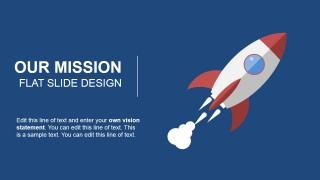Our Mission Space Rocket Illustration
