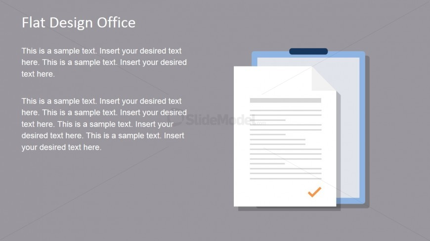 Flat Office Document Vector for PowerPoint