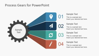 Process Gear Layout Design for PowerPoint