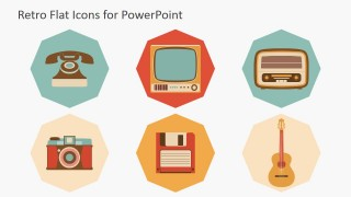 PowerPoint Icons Featuring Television Radios and Telephones
