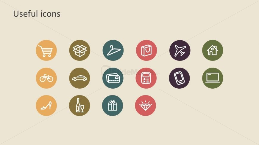 Useful Shopping Icons PowerPoint Vectors