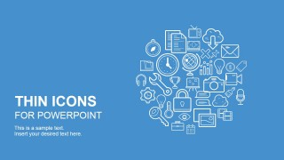 Creative Thin Icons Collection for PowerPoint