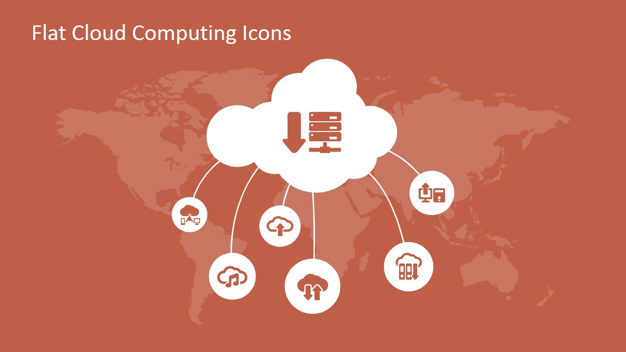 Flat Cloud Computing PowerPoint Icons SlideModel