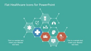 Flat Molecular Layout Design for PowerPoint with Icons