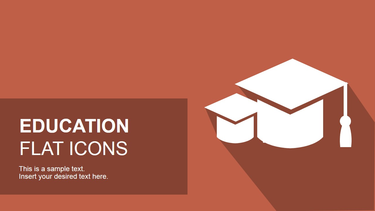 flat education powerpoint icons - slidemodel