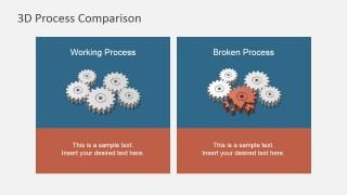 Contrast - Intact vs. Broken Gears 3D Infographics