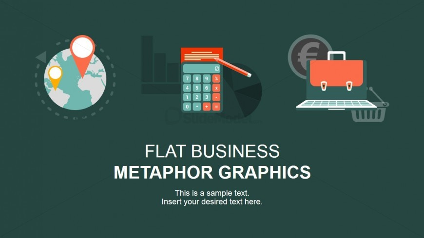 Flat Design - Targeting, Calculator, and E-Business Graphics