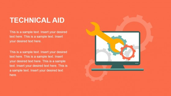 Flat Technical Aid Graphic for PowerPoint