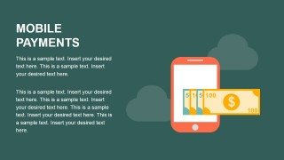 Flat Mobile Payments PowerPoint Slides