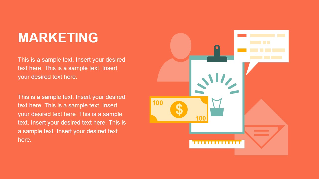 Flat Marketing Slide Design Graphics