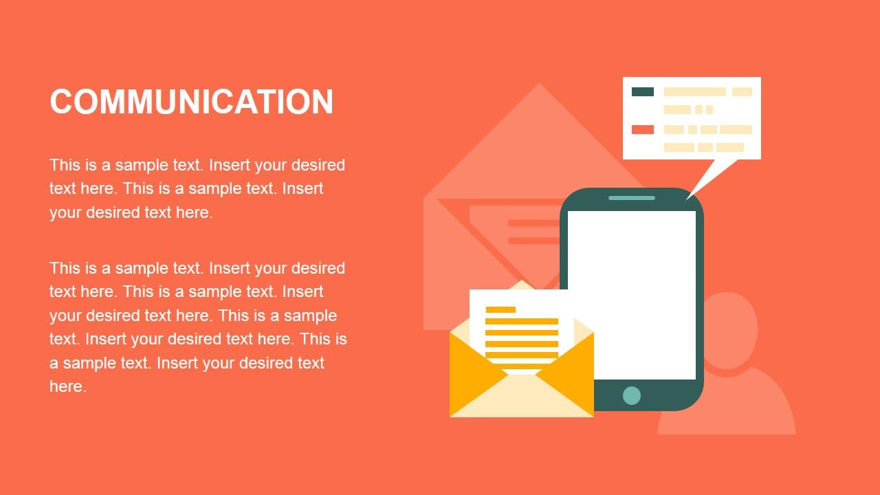 Communications Metaphor Flat Design PowerPoint Icons