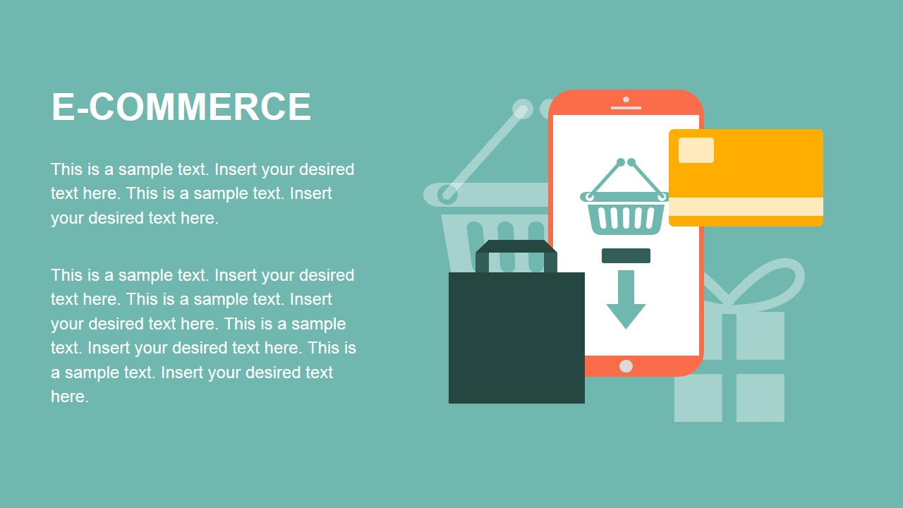 E-Commerce Flat Design PowerPoint Metaphors